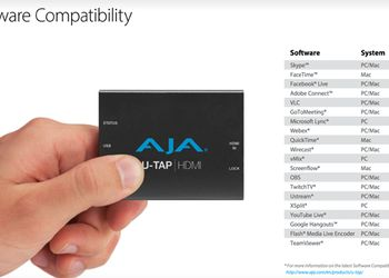 AJA U-TAP ora disponibile in Italia ! !