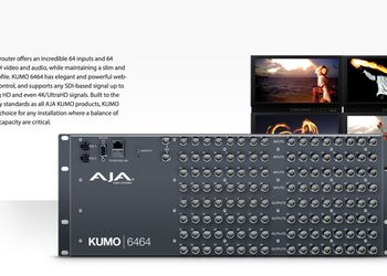 AJA KUMO 6464 ora disponibile in Italia!