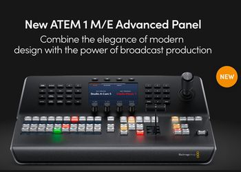 Blackmagic annuncia il nuovo ATEM 1 M/E Advanced Panel
