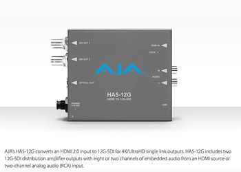 AJA Video ha iniziato la distribuzione di HA5-12G , mini converter HDMI to SDI 12G
