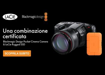Una combinazione certificata: Blackmagic Design Pocket Cinema Camera & LaCie Rugged SSD